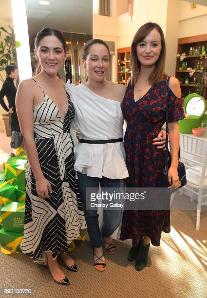 Isabelle Fuhrman, CEO Tata Harper Skin Care Tata Harper and Ahna O'Reilly attend the Tata Harper VIP Masterclass at Sunset Tower on December 14, 2017...