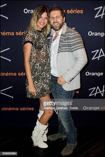 Isabelle Funaro and Arthur Benzaquen attend the Premiere of ZAK in Paris