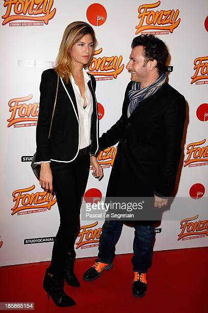 Isabelle Funaro and Michael Youn attend the 'Fonzy' Paris Premiere at Cinema Gaumont Opera on October 25 2013 in Paris France