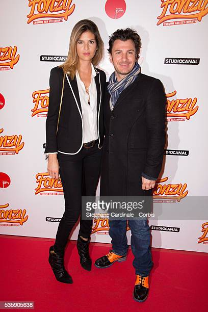 Isabelle Funaro and Michael Youn attend the 'Fonzy' Paris Premiere at Cinema Gaumont Opera in Paris