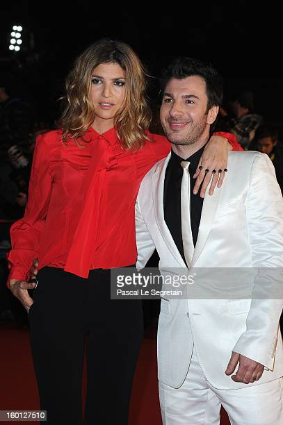 Isabelle Funaro and Michael Youn attend the NRJ Music Awards 2013 at Palais des Festivals on January 26 2013 in Cannes France