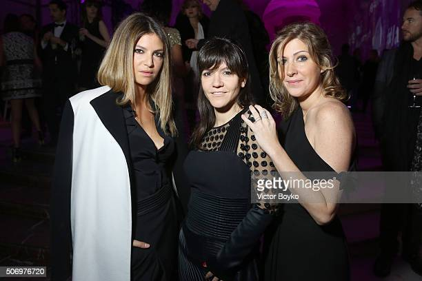 Isabelle Funaro Hortense D'Esteve and Amanda Sthers en Ungaro attends the Launch party of the New Fragrance 'La Diva' And 50th Anniversary of Emanuel...