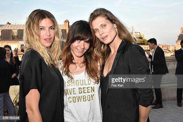 Isabelle Funaro Hortense d'Esteve and Malgosia Bela attend Zadig Voltaire New Perfume Launch Launch Party at 51 Avenue Iena on June 9 2016 in Paris...