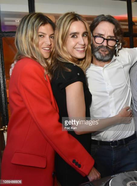 Isabelle Funaro Victoria Olloqui and Frederic Beigbeder attend the 'Prix De Flore 2018' Literary Prize Winner Announcement At Cafe De Flore on...