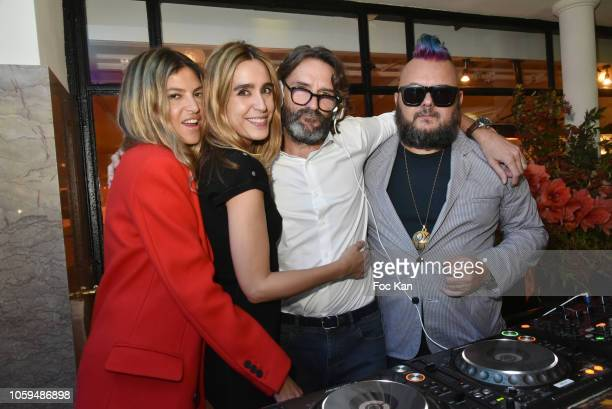 Isabelle Funaro Victoria Olloqui Frederic Beigbeder and DJ Greg Boust attend the 'Prix De Flore 2018' Literary Prize Winner Announcement At Cafe De...