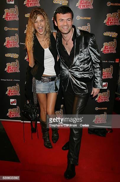 Isabelle Funaro wife of Pascal Obispo and Xavier Anthony attend the NRJ Cine Awards