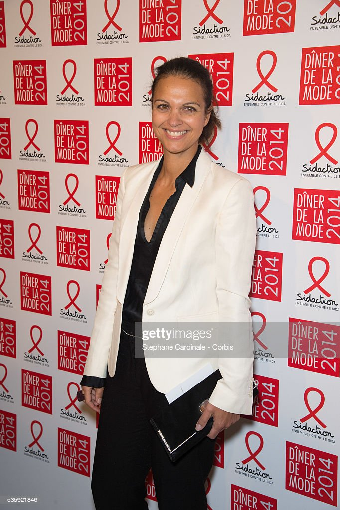 Isabelle Giordano attends the Sidaction Gala Dinner at Pavillon d'Armenonville, in Paris.