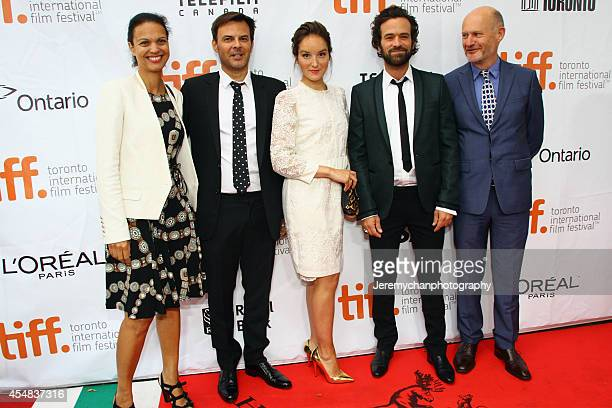 Isabelle Giordano director François Ozon actor Anaïs Demoustier actor Romain Duris and JeanPaul Salomé arrive at 'The New Girlfriend' Premiere during...