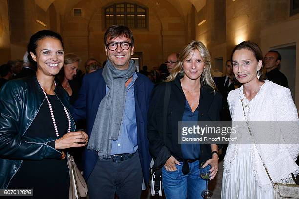 Isabelle Giordano Philippe Rousselet Sarah Lavoine and Kristin Scott Thomas attend the 4O Rue de Sevres Preview at the Head Offices of Both Kering...