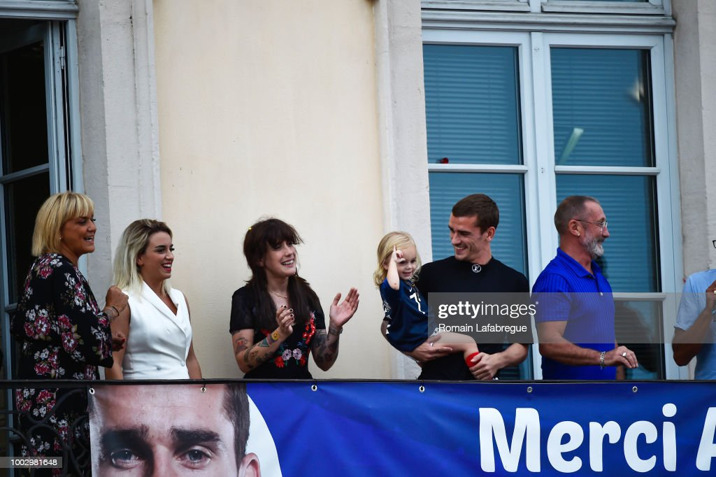 Antoine Griezmann celebrates victory in World Cup in his hometown - FIFA World Cup 2018 : News Photo