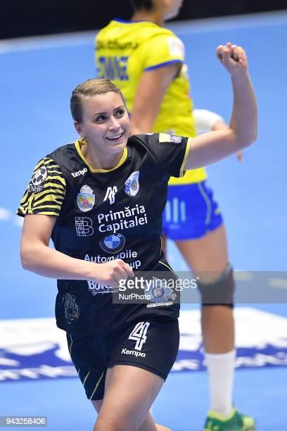 Isabelle Gullden during CSM Bucharest v Metz Handball - EHF Women's Champions League Quarter Final, Polyvalent Hall, Bucharest, Romania, 06 April...
