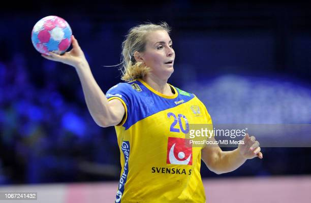 Isabelle Gullden of Sweden in action during EHF Women's Euro 2018 match between Denmark and Sweden on November 30, 2018 in Nantes, France.