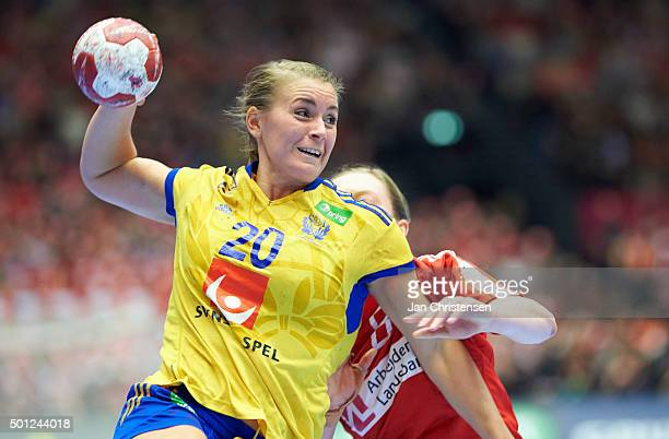 Isabelle Gulldén of Sweden in action during the 22nd IHF Women's Handball World Championship Eight Final match between Denmark and Sweden in Jyske...