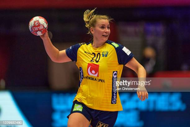Isabelle Gulldén of Sweden in action during the Women's EHF EURO 2020 match beween Sweden and Czech Republic in Jyske Bank Boxen on December 03, 2020...