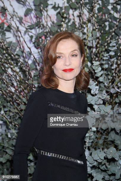 Isabelle Hupert attends the 16th Sidaction as part of Paris Fashion Week on January 25 2018 in Paris France