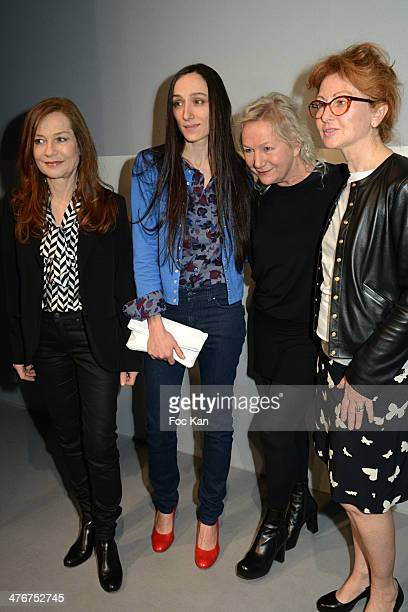 Isabelle Huppert Agnes B and guests attend the Agnes B show as part of the Paris Fashion Week Womenswear Fall/Winter 20142015 at Palais de Tokyo on...