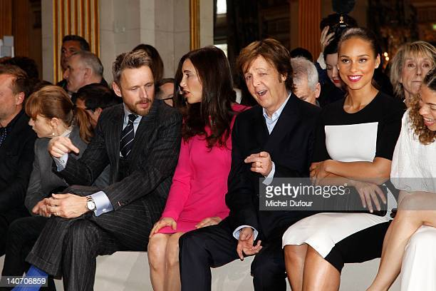 Isabelle Huppert Alasdhair Willis Nancy Shevell Paul McCartney and Alicia Keys attend the Stella McCartney ReadyToWear Fall/Winter 2012 show as part...