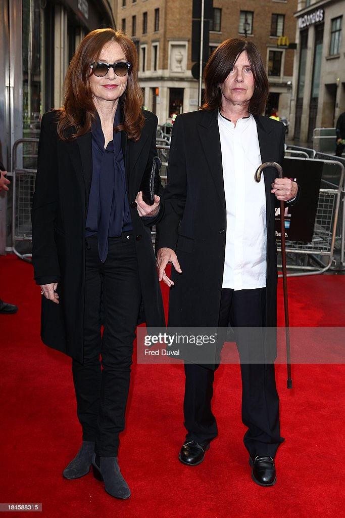 Isabelle Huppert and Catherine Breillat attend a screening of 'Abuse Of Weakness' during the 57th BFI London Film Festival at Odeon West End on October 14, 2013 in London, England.