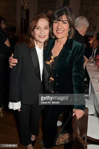 Isabelle Huppert and Christiane Amanpour attend a private dinner hosted by Michael Kors to celebrate the new Collection Bond St Flagship Townhouse...