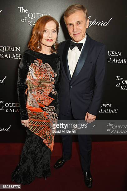 Isabelle Huppert and Christoph Waltz attend as Chopard presents The Garden Of Kalahari collection at Theatre du Chatalet on January 21 2017 in Paris...