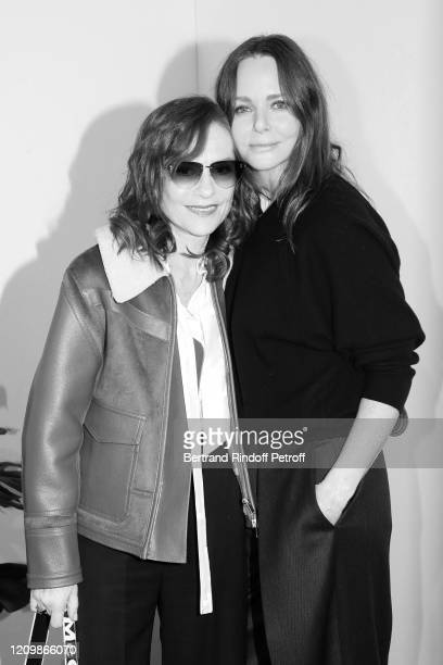 Isabelle Huppert and Designer Stella McCartney pose after the Stella McCartney show as part of the Paris Fashion Week Womenswear Fall/Winter...