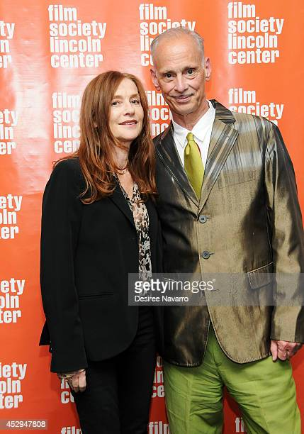 Isabelle Huppert and John Waters attend the 'Abuse Of Weakness' screening at The Film Society of Lincoln Center on July 30 2014 in New York City