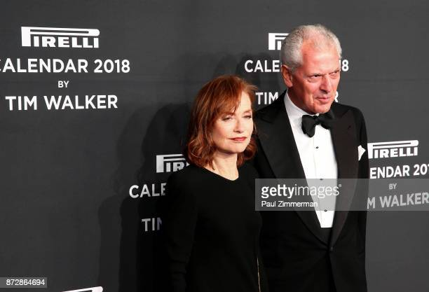 Isabelle Huppert and Marco Tronchetti attend Pirelli Calendar 2018 Launch Gala at The Manhattan Center on November 10 2017 in New York City