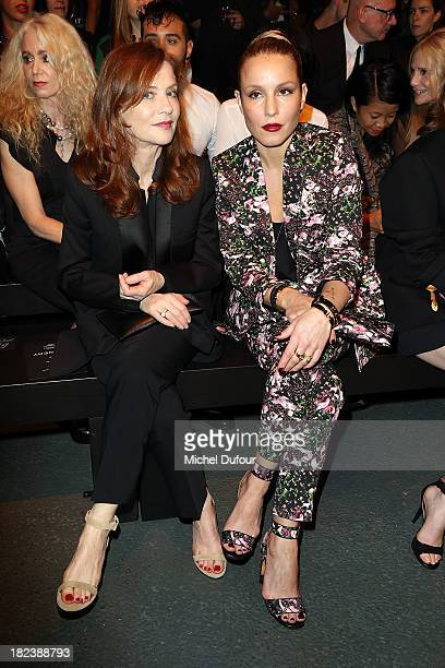 Isabelle Huppert and Noomie Rapace attend the Givenchy show as part of the Paris Fashion Week Womenswear Spring/Summer 2014 on September 29 2013 in...
