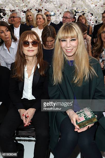 Isabelle Huppert and Victoire de Castellane attend the Christian Dior show as part of Paris Fashion Week Haute Couture Fall/Winter 20142015 at Muse...