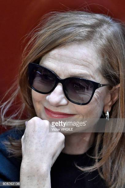 Isabelle Huppert at the APC Ready to Wear fashion show as part of the Paris Fashion Week Womenswear Fall/Winter 2018/2019 on March 5 2018 in Paris...