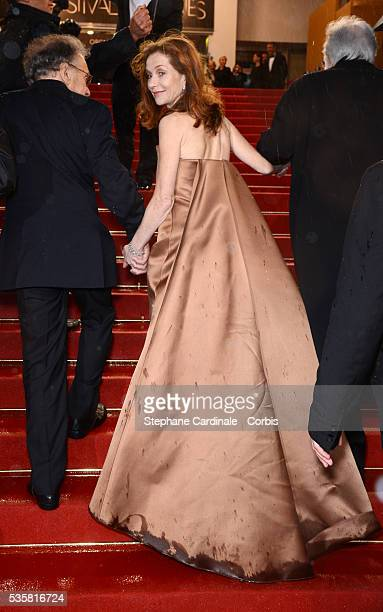 """Isabelle Huppert at the premiere for """"Amour"""" during the 65th Cannes International Film Festival."""