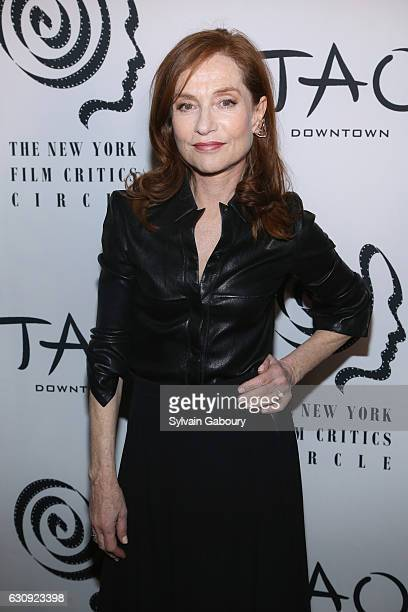 Isabelle Huppert attends 2016 New York Film Critics Circle Awards on January 3 2017 in New York City