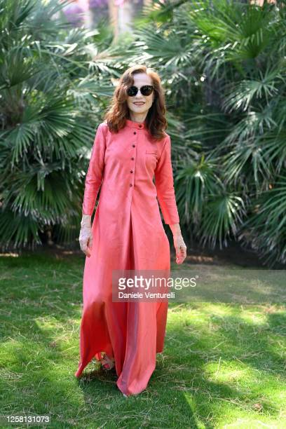Isabelle Huppert attends Filming Italy Sardegna Festival 2020 Day 4 Press Conference at Forte Village Resort on July 25, 2020 in Santa Margherita di...