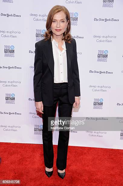 Isabelle Huppert attends IFP's 26th Annual Gotham Independent Film Awards at Cipriani Wall Street on November 28 2016 in New York City