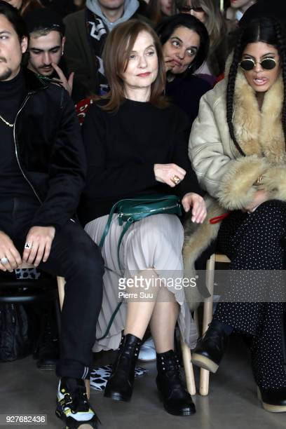 Isabelle Huppert attends sthe Agnes B show as part of the Paris Fashion Week Womenswear Fall/Winter 2018/2019 on March 5 2018 in Paris France