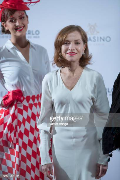 Isabelle Huppert attends 'Surrealist Dinner Charles Kaisin' at Casino de MonteCarlo on December 9 2017 in Monaco Monaco
