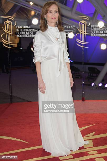 Isabelle Huppert attends the 16th Marrakech International Film Festival Day Three on December 4 2016 in Marrakech Morocco