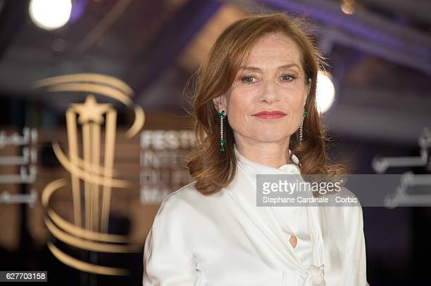 Isabelle Huppert attends the 16th Marrakech International Film Festival on December 4 2016 in Marrakech Morocco