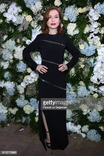 Isabelle Huppert attends the 16th Sidaction as part of Paris Fashion Week on January 25 2018 in Paris France