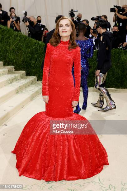 Isabelle Huppert attends The 2021 Met Gala Celebrating In America: A Lexicon Of Fashion at Metropolitan Museum of Art on September 13, 2021 in New...