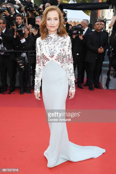 Isabelle Huppert attends the 70th Anniversary of the 70th annual Cannes Film Festival at Palais des Festivals on May 23 2017 in Cannes France