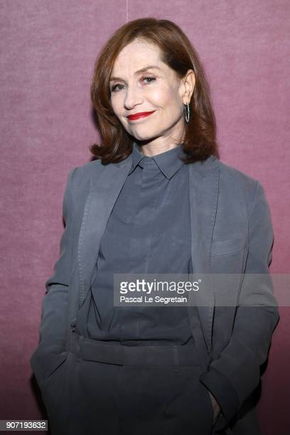 Isabelle Huppert attends the Berluti Menswear Fall/Winter 20182019 show as part of Paris Fashion Week on January 19 2018 in Paris France