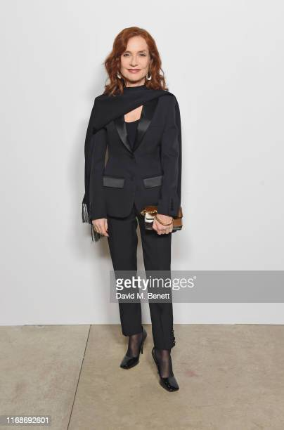 Isabelle Huppert attends the Burberry September 2019 show during London Fashion Week, on September 16, 2019 in London, England.