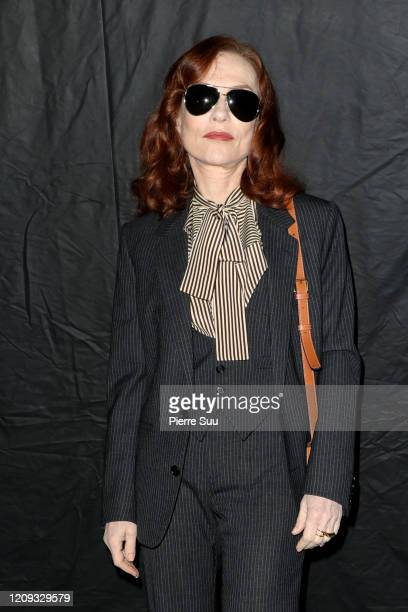 Isabelle Huppert attends the Celine show as part of the Paris Fashion Week Womenswear Fall/Winter 2020/2021 on February 28 2020 in Paris France