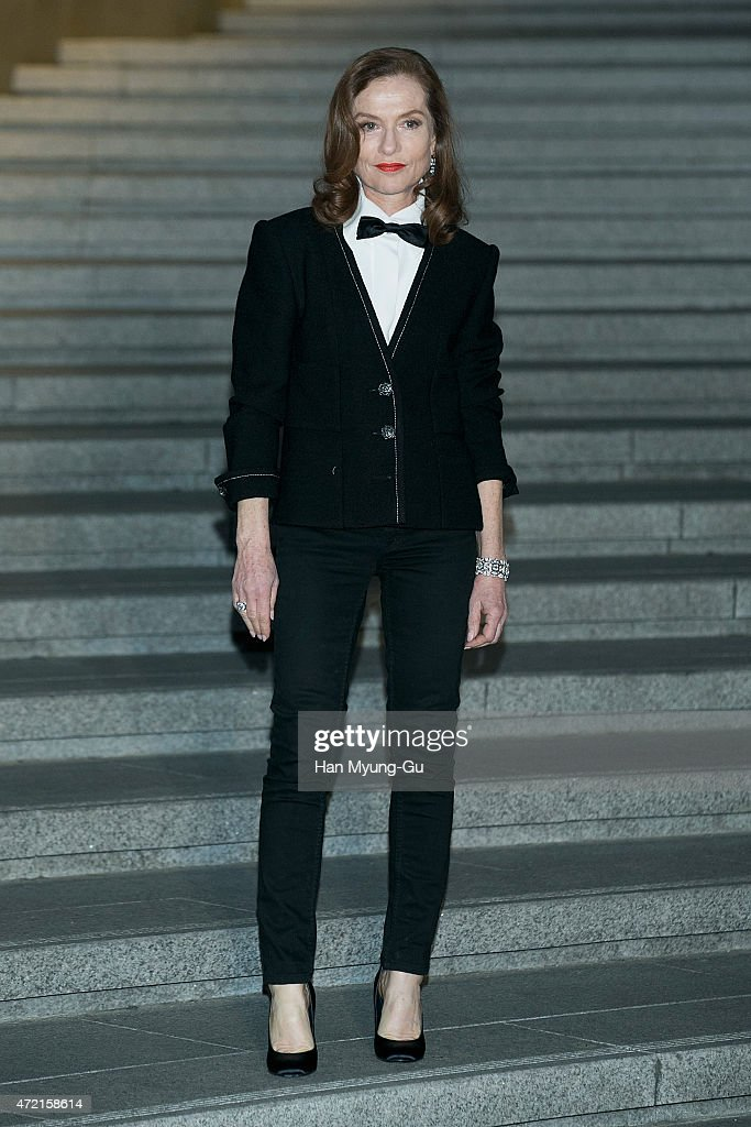 Isabelle Huppert attends the Chanel 2015/16 Cruise Collection show on May 4, 2015 in Seoul, South Korea.
