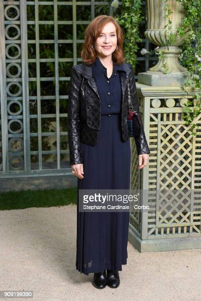Isabelle Huppert attends the Chanel Haute Couture Spring Summer 2018 show as part of Paris Fashion Week January 23 2018 in Paris France