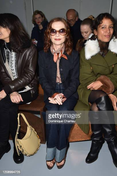 Isabelle Huppert attends the Chloe show as part of the Paris Fashion Week Womenswear Fall/Winter 2020/2021 on February 27 2020 in Paris France
