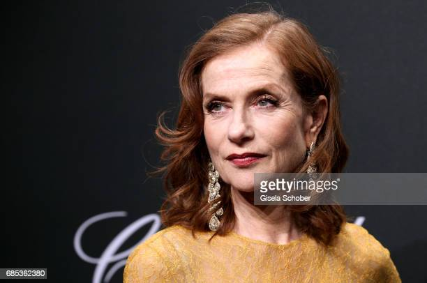 """Isabelle Huppert attends the Chopard """"SPACE Party"""" hosted by Chopard's copresident Caroline Scheufele and Rihanna at Port Canto on May 19 in Cannes..."""