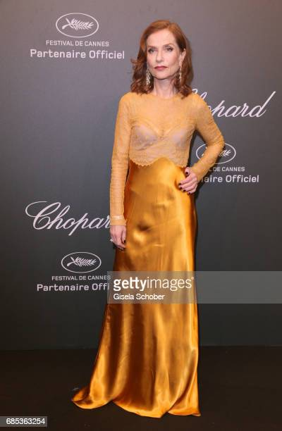 "Isabelle Huppert attends the Chopard ""SPACE Party"" hosted by Chopard's copresident Caroline Scheufele and Rihanna at Port Canto on May 19 in Cannes..."