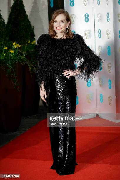 Isabelle Huppert attends the EE British Academy Film Awards gala dinner held at Grosvenor House on February 18 2018 in London England